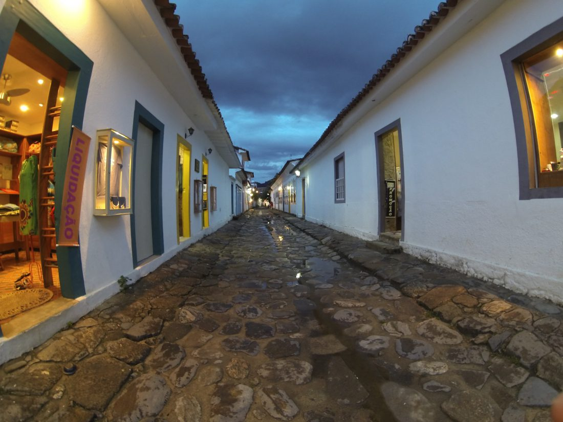 The nightlife of Paraty